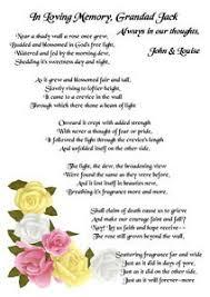 memorial funeral poem