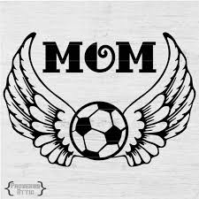Mom Soccer Ball With Wings Decal Vinyl Cutting File Printable Etsy