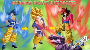 Goku GT Adult Transform to Super Saiyan SSj2 SSJ3 and SSJ4 ...