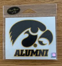 Iowa Alumni Tigerhawk Logo Vinyl Decal