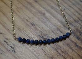 sapphire bead bar pendant