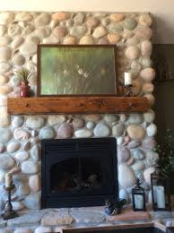 shinny sealant on my river rock fireplace