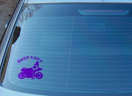 Biker Chick Outdoor Vinyl Window Decal Sticker Truck Decal Car Decal Handamde Big Tees Printing Online Store Powered By Storenvy