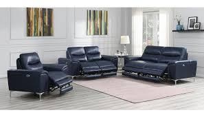 zane power recliner sofa inc blue leather