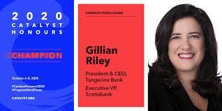 Gillian Riley, President & CEO of Tangerine Bank and EVP, Sc