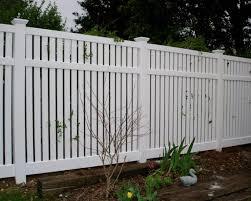 Vinyl Semi Private Garden Fence Panels White Garden Fence Fence Design