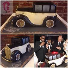 Vintage Rolls Royce Cake Cool Cake Designs Dad Birthday Cakes