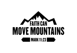 Faith Can Move Mountains Car Decal Etsy