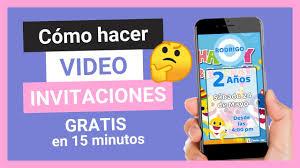 Crea Una Invitacion En Video Infantil Gratis Invita Jass