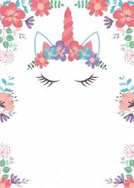 Image Result For Invitaciones De Unicornio Para Editar