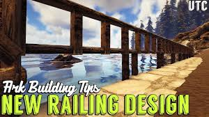 New Railing Fence Design Ark Building Tip 1 S Wooden Railings Wooden Fence Foundations Youtube