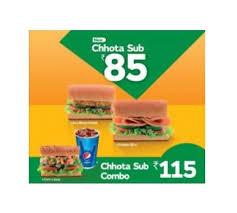 subway india introduces chhota sub in