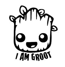 I Am Groot Die Cut Vinyl Decal From Sadiesvinyl Fandom Shop