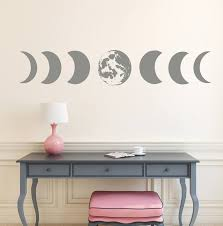 Moon Phases Wall Decal Moon Phases Art Modern Decals Moon Wall Etsy