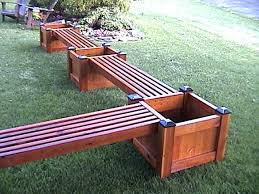 diy planter bench wood potting how