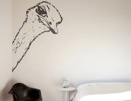 Ostrich Head Wall Sticker Contemporary Wall Stickers