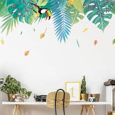 Tropical Plant Wall Decals Wall Stickers Living Room Plant Wall Living Room Wall