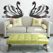 Shop Black Swan Birds Love Full Color Wall Decal Sticker K 1275 Frst Size 40 X63 Overstock 21678321
