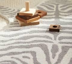 Zebra Shaped Rug Gray Patterned Rugs Pottery Barn Kids
