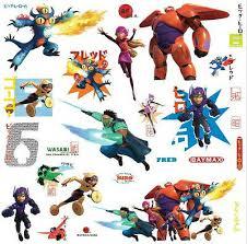 Big Hero 6 Wall Stickers 27 Decals Baymax Fred Disney Movie Wall Decor 34878850160 Ebay