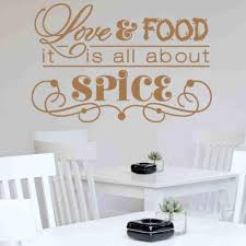 Love Food It S All About Spice Wall Decal Style And Apply