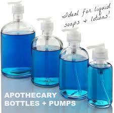 apothecary bottles pumps for your