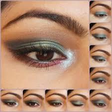 eye makeup tutorial pea blue eyes