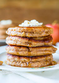 cinnamon apple pancakes with vanilla