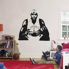 Lebron James Wall Sticker Vinyl Diy Home Decor Basketball Players Wall Decals Sport Star For Kids Living Room Wall Stickers Aliexpress