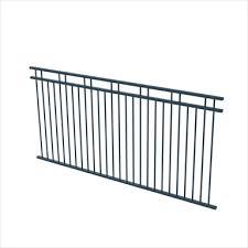 Protector Aluminium 2450 X 1200mm Double Top Rail 2 Up 2 Down Ulti M8 Fence Panel Satin Black