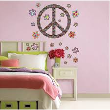 Wall Pops 39 In X 17 5 In Peace Wall Decal Wpk99063 The Home Depot