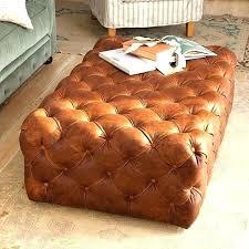 round leather ottoman tufted aquaru info