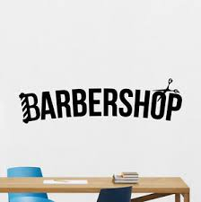 Barbershop Wall Decal Barber Logo Hair Salon Vinyl Sticker Poster Decor 141hor Ebay