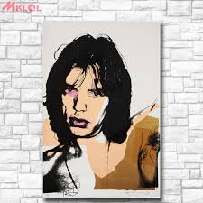 Pop Art Wall Art Mick Jagger 14 By Andy Warhol Study Bedroom Decor Wall Oil Painting Print Nice Wall Picture For Living Room Painting Calligraphy Aliexpress