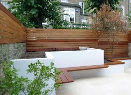 Horizontal Fence Panels Modern Garden Design Ideas