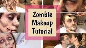 zombie makeup tutorial using eyeshadow