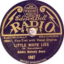 78 RPM - Radio Melody Boys - Adeline / Little White Lies - Edison Bell  Radio - UK - 1407