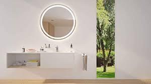 round led illuminated bathroom mirror
