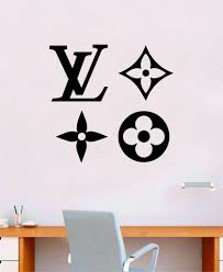 Louis Vuitton Logo Pattern V3 Wall Decal Home Decor Bedroom Room Vinyl Boop Decals