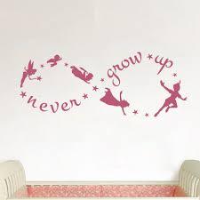Peter Pan Never Grow Up Wall Decal The Decal Guru