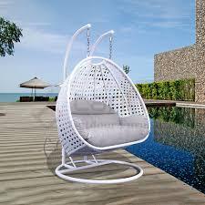 style white patio swing outdoor garden