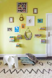 Fun Colorful Kids Room Features Floating Shelves Gallery Wall Hgtv