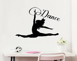 Dance Wall Decal Etsy