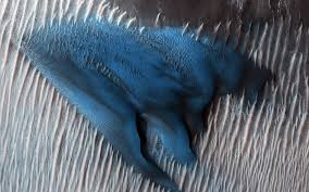 Marte más allá del rojo: descubren una duna azul en la superficie