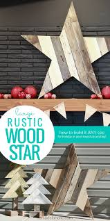 Remodelaholic How To Build A Large Rustic Wood Star From Old Fence Boards