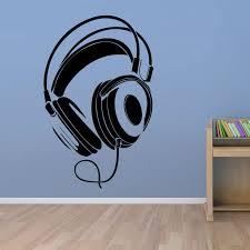 Music Dj Headphones Wall Stickers Boys Room Wall Decor Vinyl Decals 2016 Fashion Design Home Decoration In W Wall Vinyl Decor Boy Room Wall Decor Wall Stickers