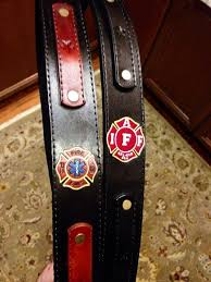 custom leather firefighter radio strap