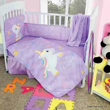 unicorn crib bedding set comforter