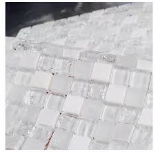 ice le clear glass mosaic bathroom