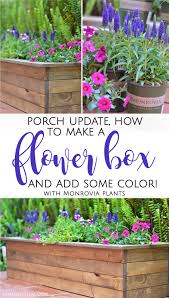 porch update how to make a flower box